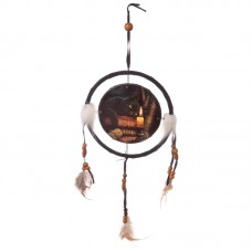 Decorative Magical Witching Hour Cat 16cm Dreamcatcher