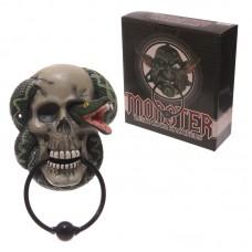 Gruesome Skull & Snake Door Knocker