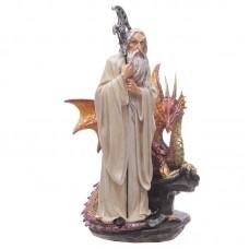 White Wizard Fantasy Dragon Collectable Figurine
