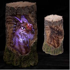 Dark Legends Dragon Light Up LED Carved Tree