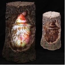 Dark Legends Wizard Carving Light Up LED Tree
