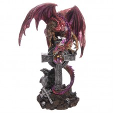Celtic Tombstone Dark Legends Dragon Figurine