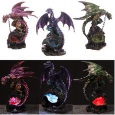 Geode Crystal Dark Legends Dragon LED Figurine