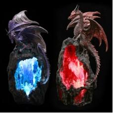 Decorative Fantasy Geode Dragon LED Back Flow Incense Burner