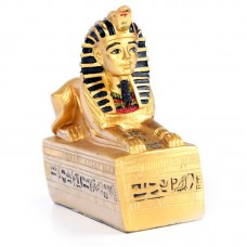 Decorative Gold Egyptian Sphinx Figurine
