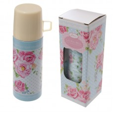 Stainless Steel Floral Chintz Design 350ml Flask