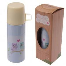 Stainless Steel Cute Love Owls Design 350ml Flask