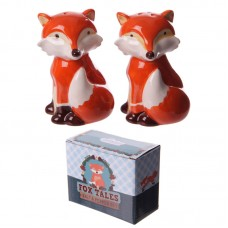 Fun Cute Fox Ceramic Salt and Pepper Set