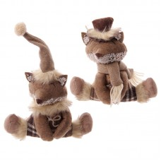 Winter Fox Collection - Brown Tartan Sitting Design