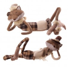 Winter Fox Collection - Brown Tartan Lying Design