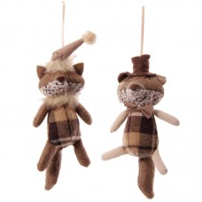 Winter Fox Collection - Brown Tartan Hanging Design