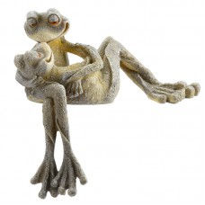 Cute Long Leg Frog Couple Kissing Ornament