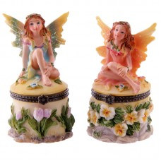 Cute Flower Fairy Mini Trinket Box