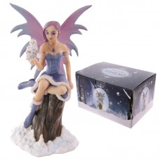 Mystic Realms Collection Fantasy Snow Fairy with Snowy Owl