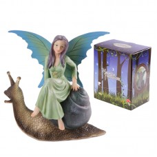 Enchanted Fairies Figurine - Riding Snail