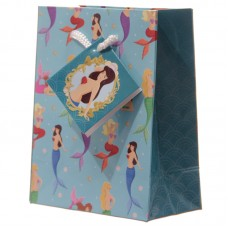 Fun Girls Mermaid Pattern Small Glossy Gift Bag