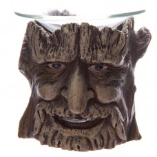 Fantasy Treeman Face Oil Burner with Glass Dish