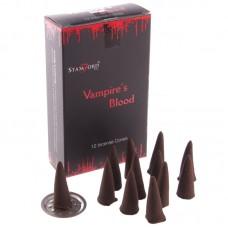 Stamford Black Incense Cones - Vampires Kiss
