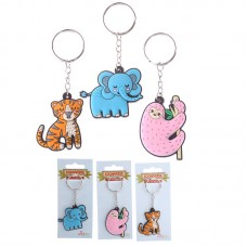 Fun PVC Keyring - Zoo Animal Designs