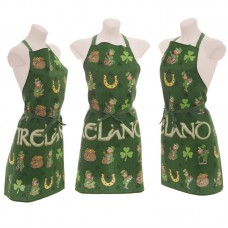 Funky Novelty Ireland Leprechaun Cotton Apron