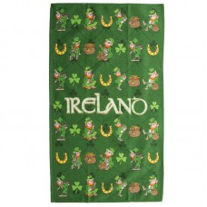 Funky Novelty Ireland Leprechaun Cotton Tea Towel