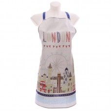 Funky London Map Design Cotton Apron