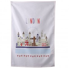 Funky London Icons Design Cotton Tea Towel