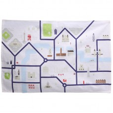 Funky London Map Design Cotton Tea Towel