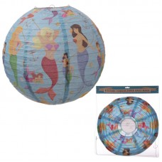 Round Paper Lamp Shade - Mermaid Design