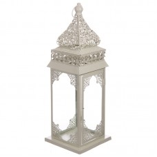 Moroccan Style Lantern - Detailed Cream