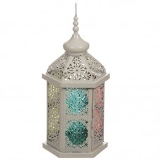 Moroccan Style Lantern - Detailed White