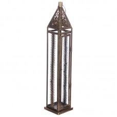Moroccan Style Lantern - Brushed Gold Large