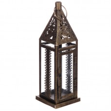 Moroccan Style Lantern - Brushed Gold Small