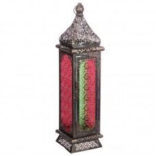 Moroccan Style Lantern - Brushed Silver Medium