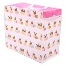 Fun Practical Laundry & Storage Bag - Pug Design