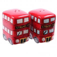 Fun Novelty Routemaster Red Bus Salt and Pepper Set