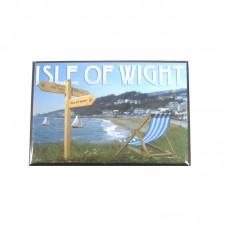 Funky Isle of Wight Fridge Magnet