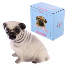 Fun Pug Design Ceramic Money Box