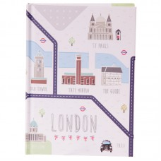 Hardback A6 Lined Note Book - London Map