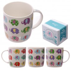 Cute Dotty Elephant Design New Bone China Mug