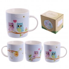 Cute New Bone China Love Owls Design Mug