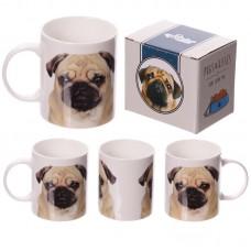 New Bone China Mug - Fun Pug Design
