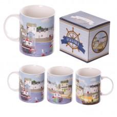New Bone China Summer Harbour Design Mug