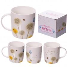 New Bone China Mug - Decorative Dandelion Pattern