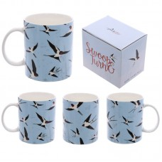 Fun New Bone China Mug - Swallows Design