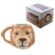 Novelty Lion Head Shaped Ceramic Mug