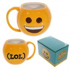 Fun Collectable Ceramic Big Smile Face Emotive Mug