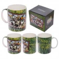 Fun Animal Selfie Howard Robinson New Bone China Mug - Pets