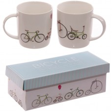 Funky Retro Rides Bicycle New Bone China Mug Set for 2