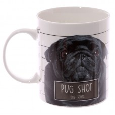 Collectable New Bone China Mug - Brown Pug Shot Design